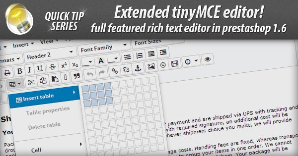 TUTORIAL] tinyMCE rich text editor - extended version - Core