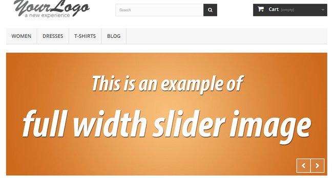 full width slider in prestashop 1.6