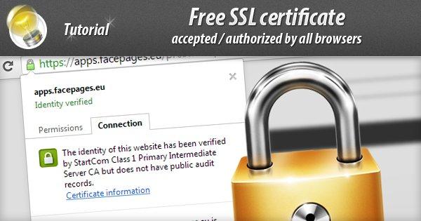 Free SSL certificate for PrestaShop