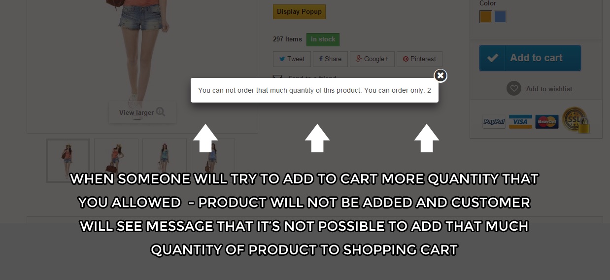 "Q&A: Maximum product quantity module move it above ""payment"" logos"