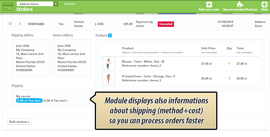 quick-order-preview-with-shipping-method