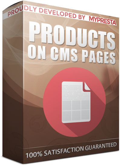 display products on cms pages