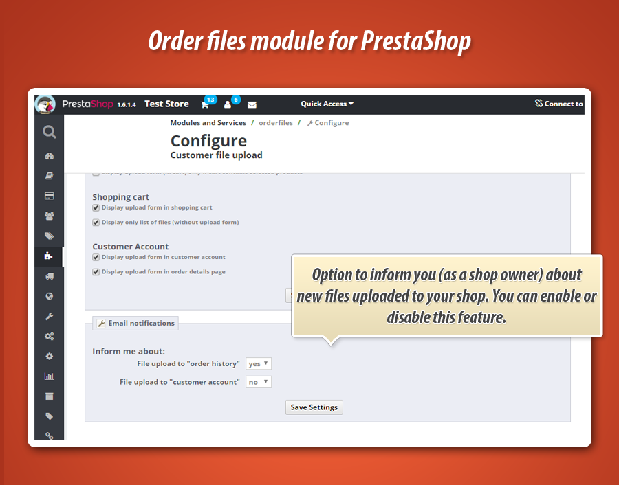 Prestashop Customer Files Upload
