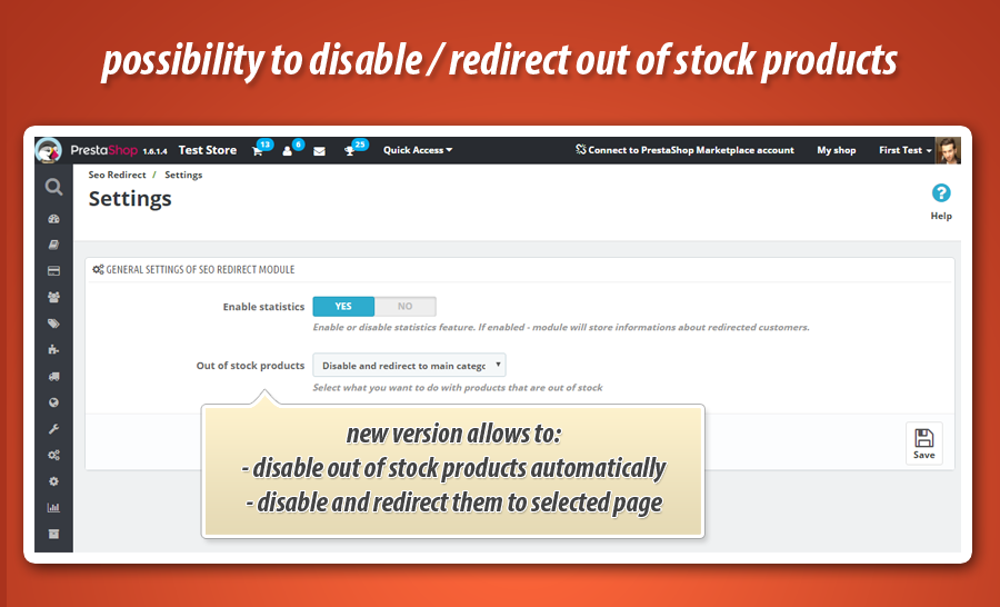 Automatically disable products without stock