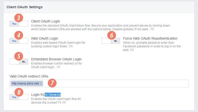 Facebook embedded browser oauth login  Facebook Login Settings and