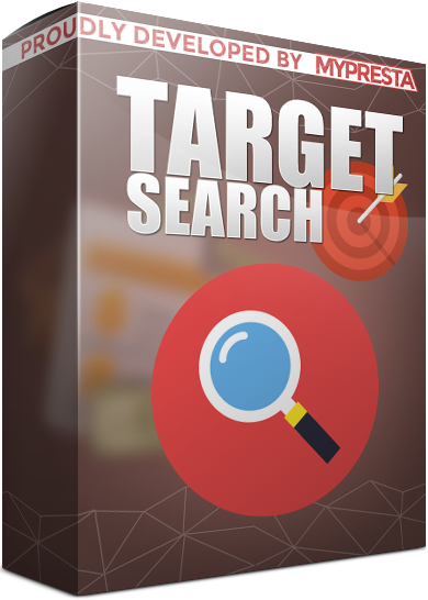 target search module in selected data types for prestashop