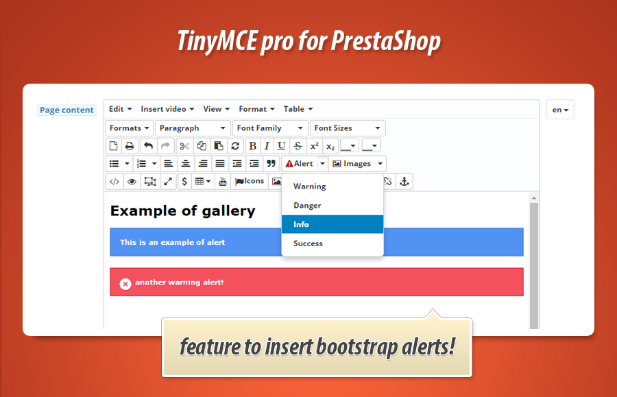 tinyMCE pro - extended rich text editor for PrestaShop