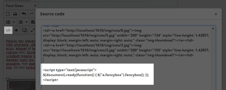 fancybox script code