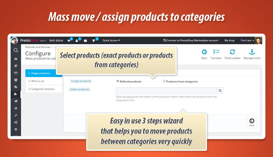 Problems with mass assigning products to categories in PrestaShop