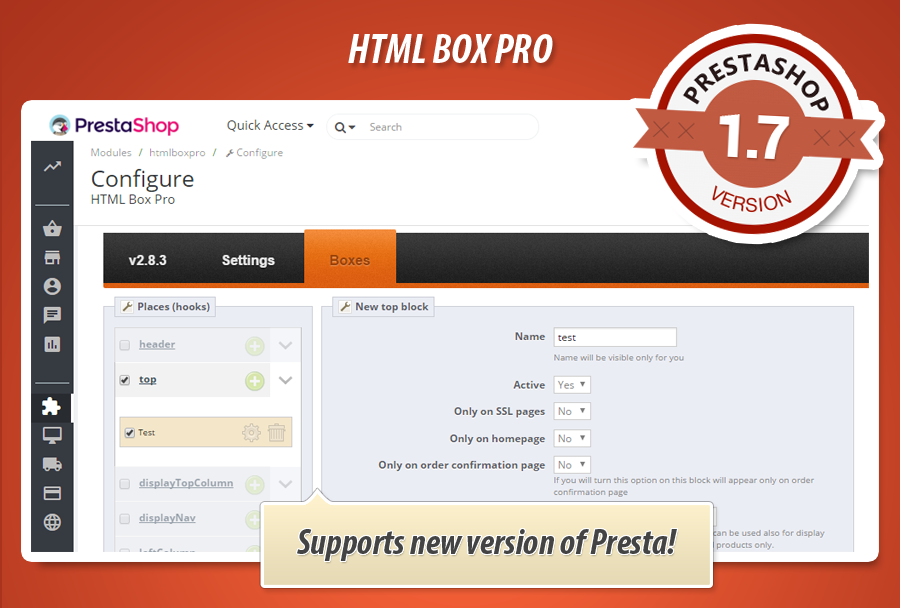 Q&A: html box module does not work properly in PrestaShop 1.6.1.9