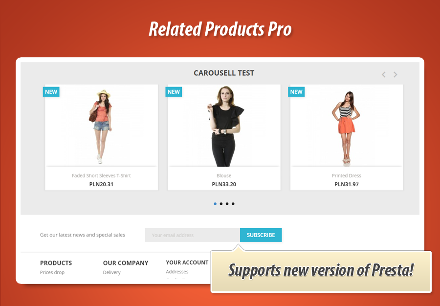 Additional services for products in PrestaShop
