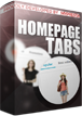 homepage tabs for prestashop
