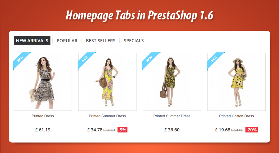 homepage tabs in prestashop 1.6