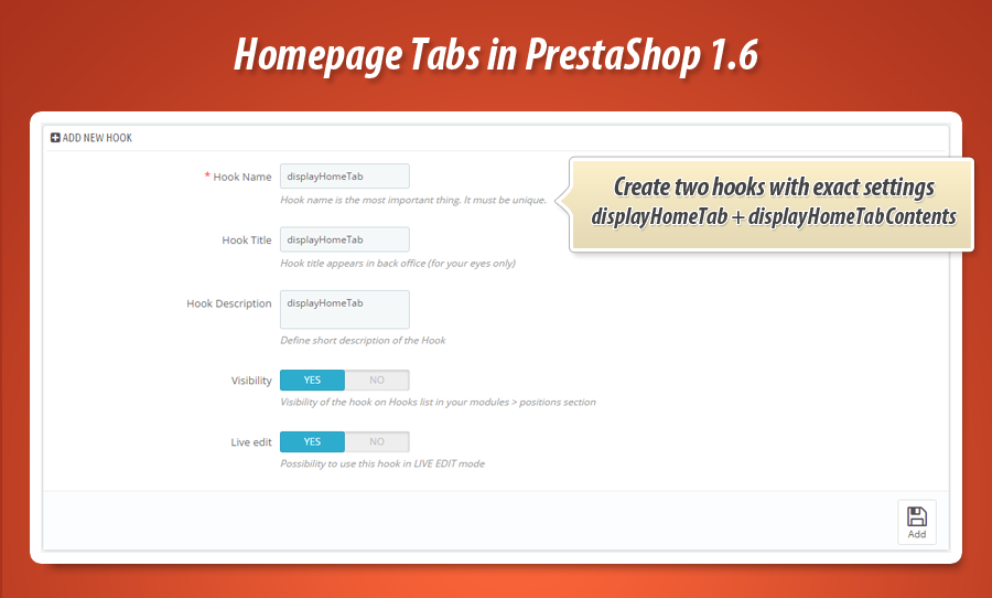 create new hooks in prestashop 1.7