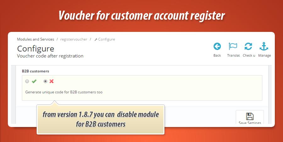 Questions about voucher codes addons for PrestaShop
