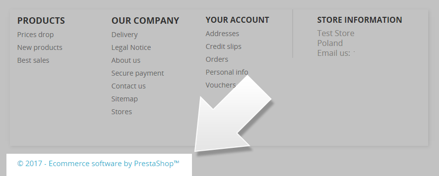 remove ecommere software by prestashop