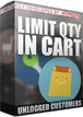 PrestaShop Limit quantity of products in cart for unlogged users With this addon you can define maximum quantity of products that unlogged customers can put to cart. If customer will exceed the limit you will define - module will spawn popup with information