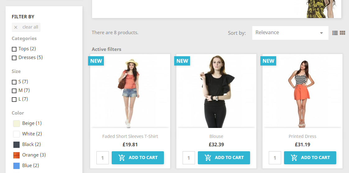 add to cart and quantity field in prestashop 1.7