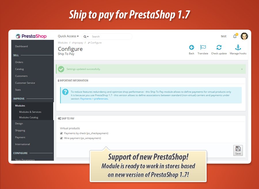 """Produkt wirtualny a metoda płatności """"za pobraniem"""" w PrestaShop"""