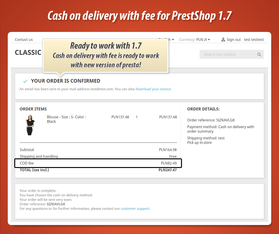 cash on delivery prestashop 1.6 free