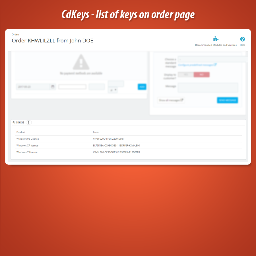 Prestashop Sell CDKeys / License keys
