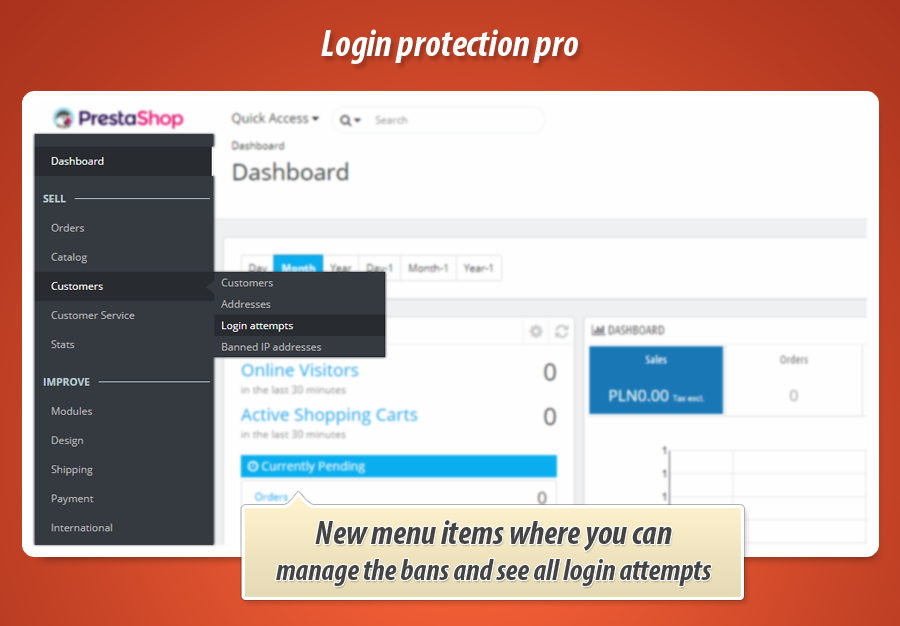 Prestashop Login protection pro