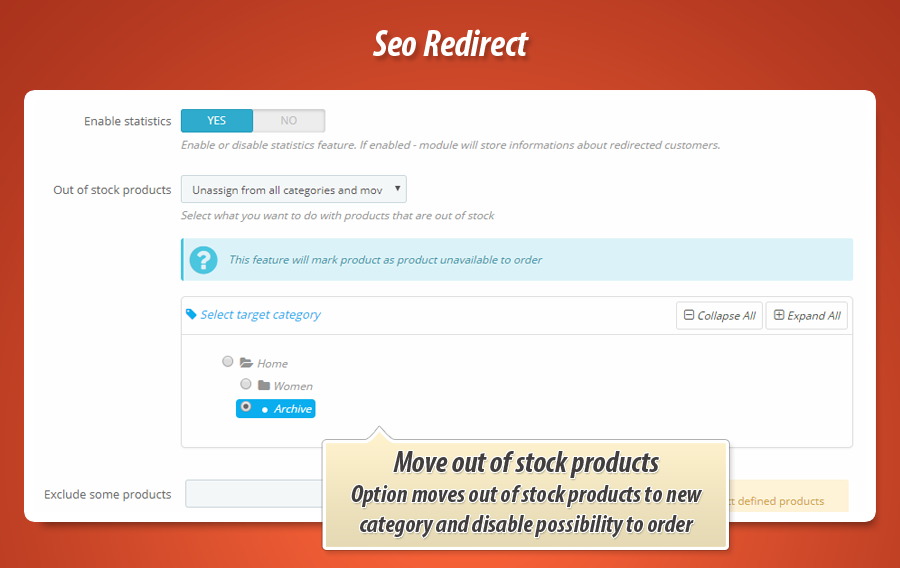 Prestashop Seo Redirects 301, 302, 303