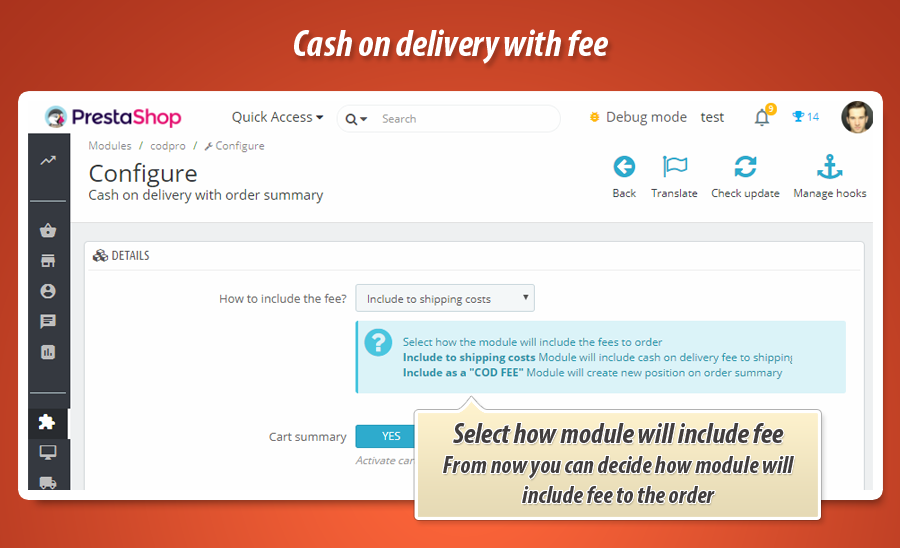 674a8947a Cash on delivery module with extra fee