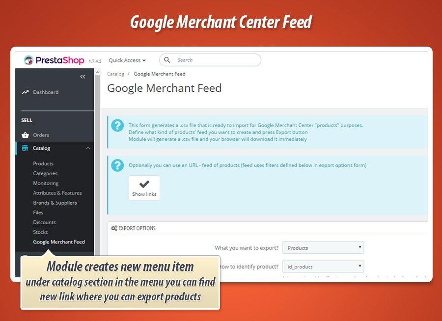 Eksportowanie produktów do google merchant center w PrestaShop