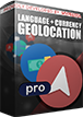 PrestaShop Geolocation pro - currency and language by country With professional version of geolocation module you can easily control what currencies and what languages will be available for visitors from defined countries. This module can support unlimited number of countries. This means that you can control what currencies and what languages in your shop visitors from all around the world will see.