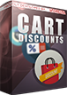 PrestaShop Cart discount based on cart value With this module you can create discounts thresholds that will apply a discount to cart based on its value. For exmaple you can create discount condition like: if cart is worth more than €500 - apply a discount 2%, or if cart is worth more than €1000 - apply a discount 5%.